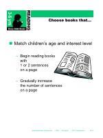 choose books that