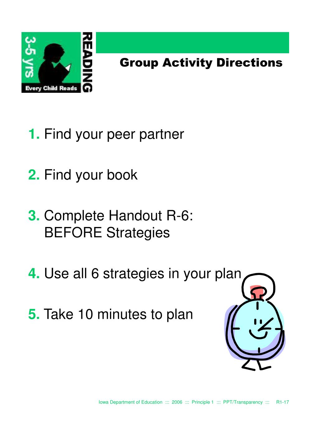 Group Activity Directions