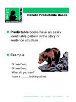 include predictable books