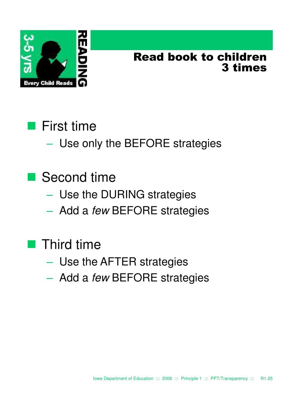 Read book to children