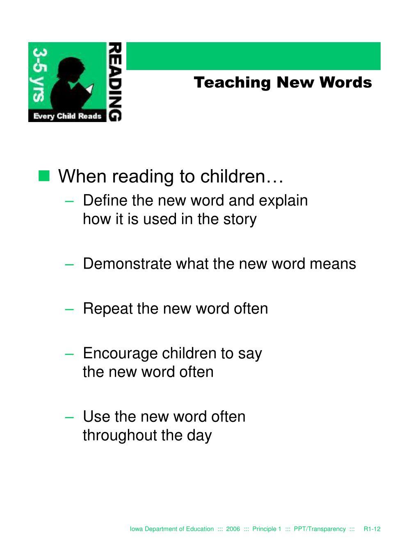 Teaching New Words