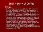 brief history of coffee