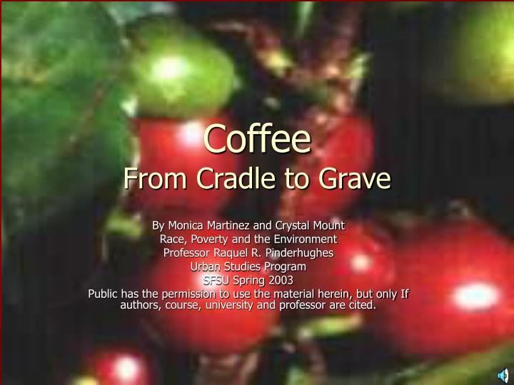 coffee from cradle to grave n.