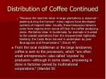 distribution of coffee continued68