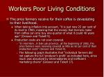 workers poor living conditions
