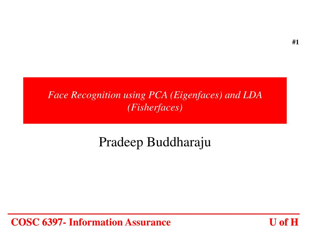 face recognition using pca eigenfaces and lda fisherfaces l.