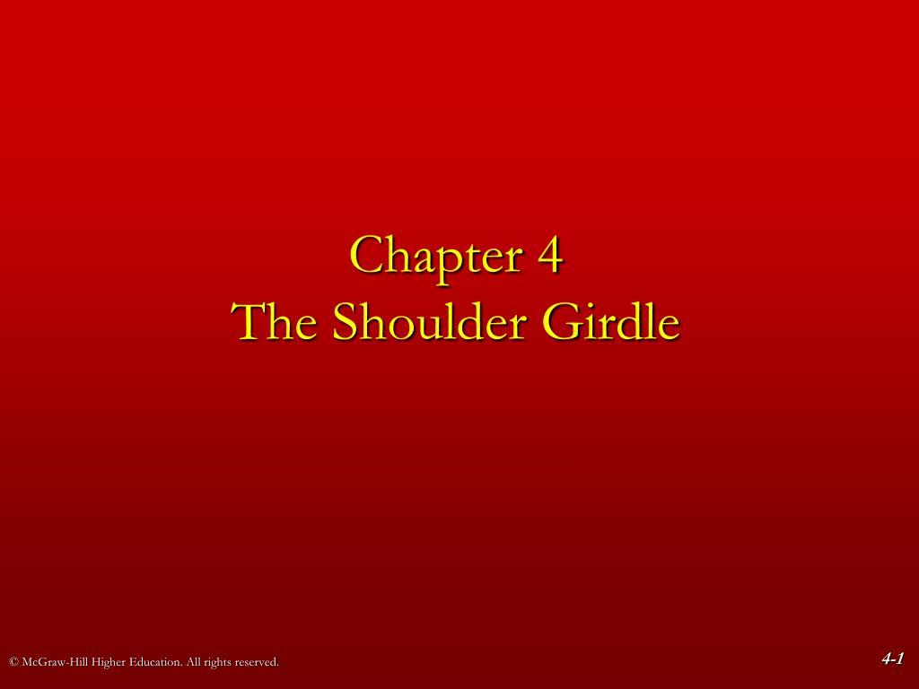 chapter 4 the shoulder girdle l.