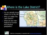 where is the lake district