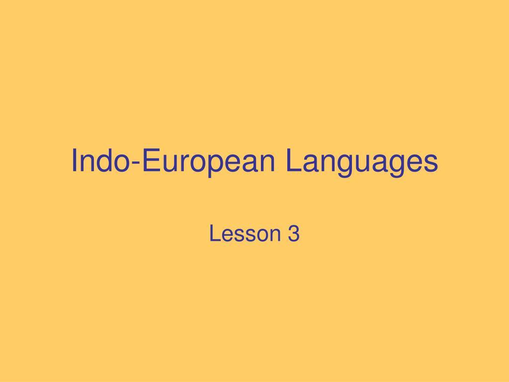 indo european languages l.