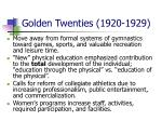 golden twenties 1920 1929