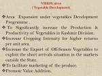 vision 2010 vegetable development