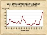 cost of slaughter hog production iowa state university calculations 1987 2008