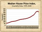 median house price index quarterly data 1975 2008