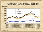 northwest iowa prices 2006 09
