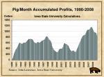 pig month accumulated profits 1990 2008