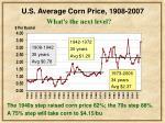 u s average corn price 1908 200737