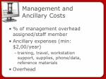 management and ancillary costs
