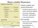 water soluble hormones