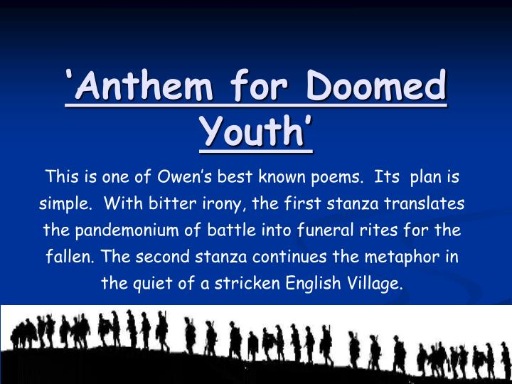 message of anthem for doomed youth
