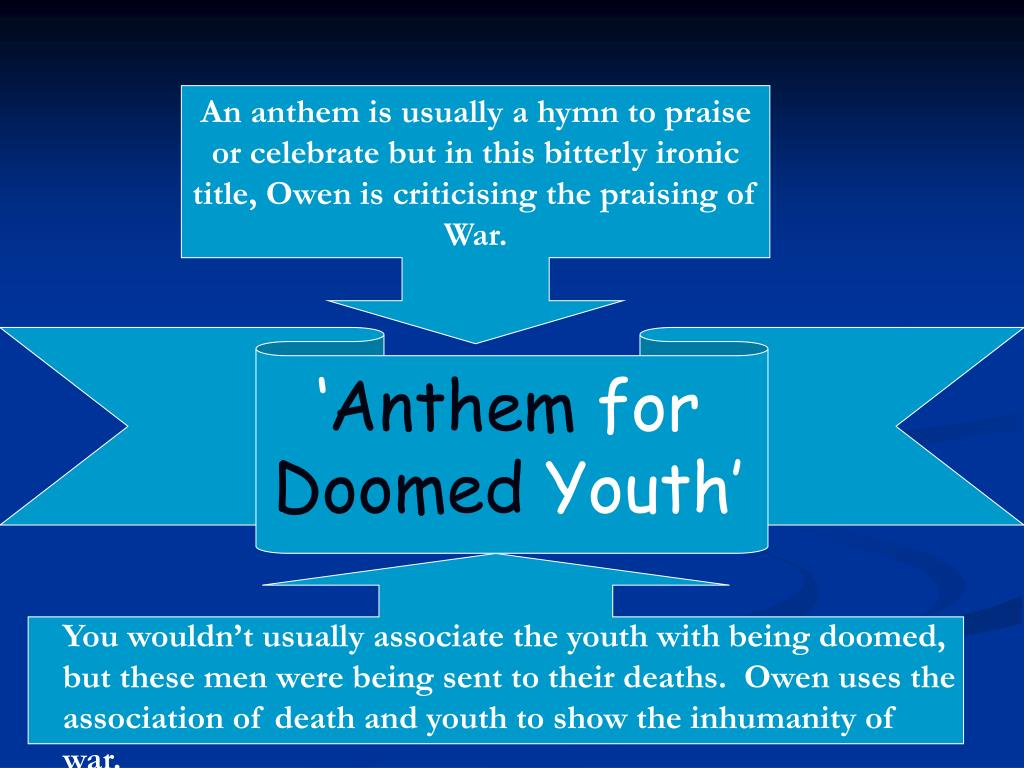 doomed youth background and analysis Anthem for doomed youth analysis.