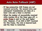 auto rate fallback arf