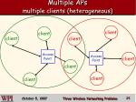 multiple aps multiple clients heterogeneous