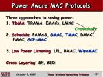 power aware mac protocols57