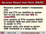 receiver based auto rate rbar