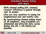 scheduled channel polling scp mac