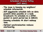scheduled channel polling scp mac68