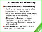 e commerce and the economy