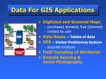 data for gis applications