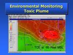 environmental monitoring toxic plume