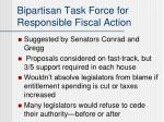 bipartisan task force for responsible fiscal action