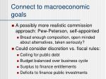 connect to macroeconomic goals