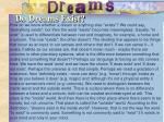 do dreams exist