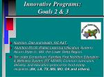 innovative programs goals 2 3