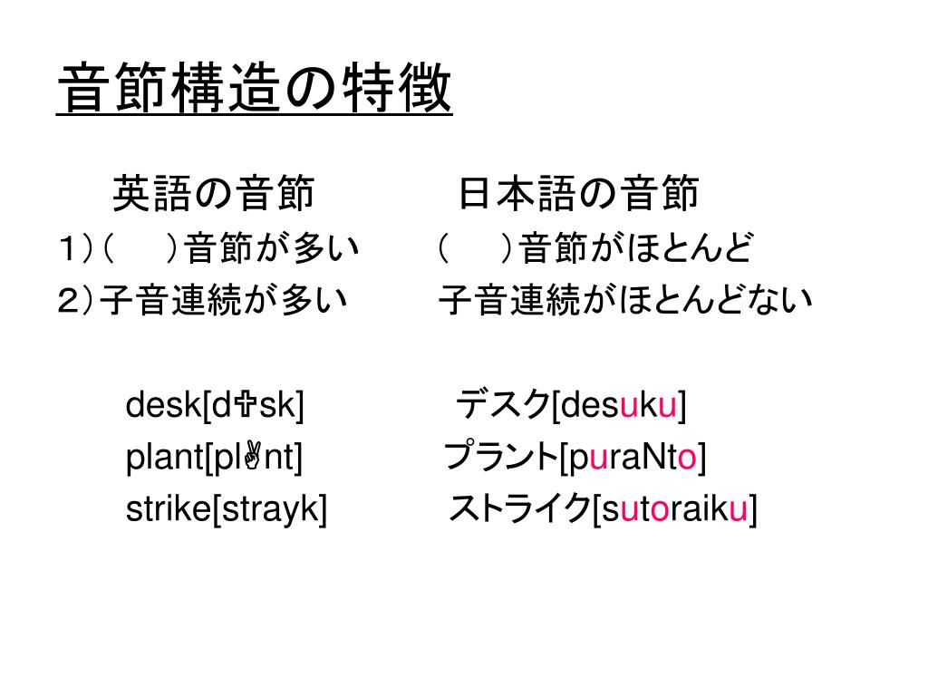 音節構造の特徴