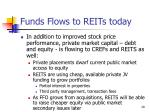 funds flows to reits today