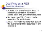 qualifying as a reit asset requirements