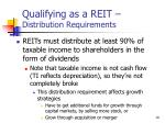 qualifying as a reit distribution requirements
