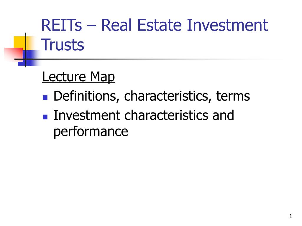 reits real estate investment trusts l.