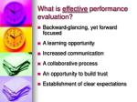 what is effective performance evaluation