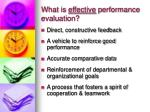 what is effective performance evaluation5