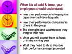 when it s all said done your employees should understand