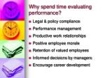 why spend time evaluating performance
