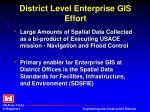 district level enterprise gis effort
