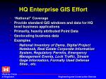 hq enterprise gis effort