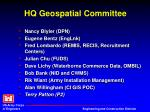 hq geospatial committee