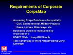 requirements of corporate corpsmap